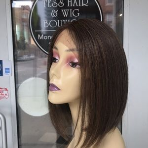 Accessories - Wig Short Bob Swisslace Lacefront warm brown 2019